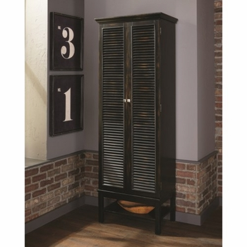 950732 Tall Wine Cabinet with Shutter Doors