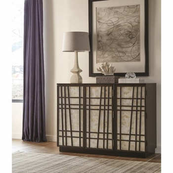 950733 Contemporary Accent Cabinet with Geometric Design