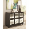 950776 Modern Accent Cabinet with Mirrored Drawers