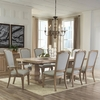 9PC Florence Rectangular Double Pedestal Dining Set