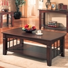 Abernathy coffee Table with Shelf # 700007