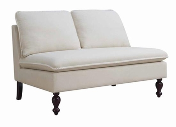 Accent Armless Loveseat