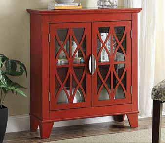 Awesome Accent Cabinet W/ Glass Doors Part 31