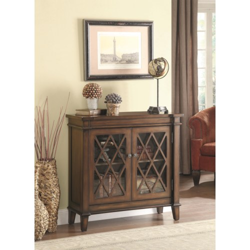 Good Accent Cabinet W/ Lattice Overlay Part 28