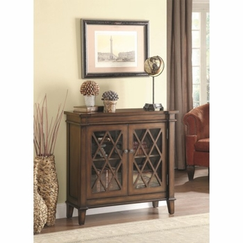 Accent Cabinet w/ Lattice Overlay