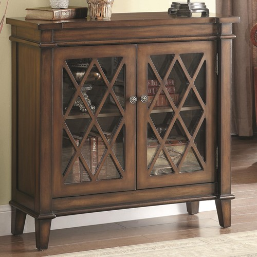 Wonderful Accent Cabinet W/ Lattice Overlay Part 18