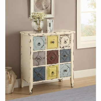 Accent Cabinet with Mismatched Drawers