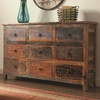 Accent Cabinets 9 Drawer Rustic Cabinet