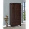 Accent Cabinets Brown Tall Accent Cabinet with Doors