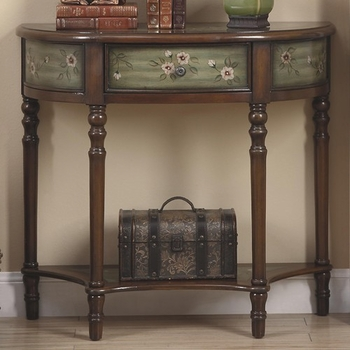 Accent Cabinets Console Table w/ Painted Door