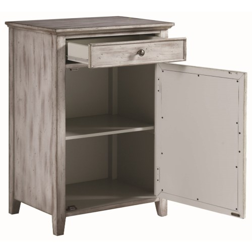 Accent Cabinets Distressed Grey Accent Cabinet With Ornate Door