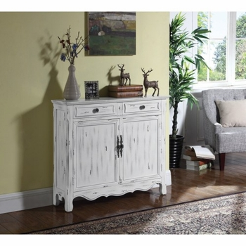 Accent Cabinets Distressed White Accent Table