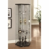 Accent Cabinets Hexagon Shaped Curio Cabinet