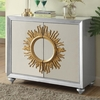 Accent Cabinets Mirrored Accent Cabinet with Sun Design