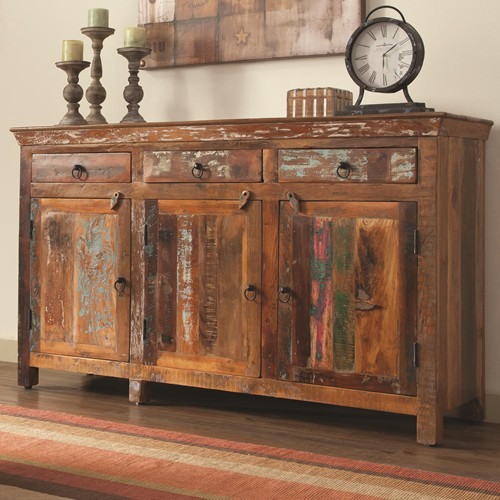 Reclaimed wood accent cabinet living room hole way cabinet sofa table arlington va furniture stores - Sofa table with cabinets ...