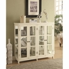 4-Door Display Accent Cabinet White 950306