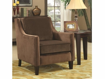 Accent Chair w/ Basket-Weave Microvelvet