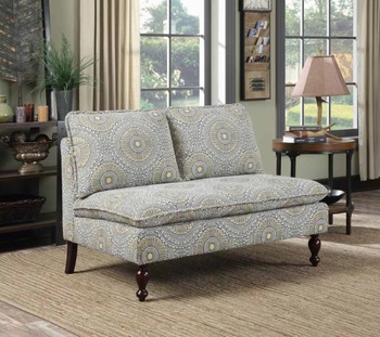 Accent Jacquard Armless Loveseat
