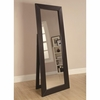 Accent Mirrors Black Finish Floor Mirror