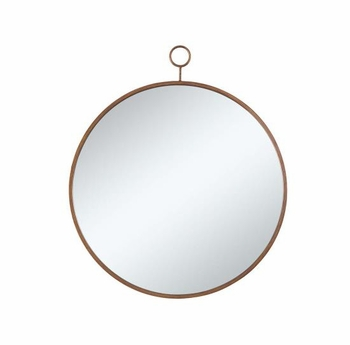 Accent Mirrors Circular Mirror with Simple Gold Frame