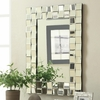 Accent Mirrors Contemporary Rectangular Wall Mirror in Silver Finish