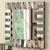 Accent Mirrors Contemporary Square Wall Mirror in Silver Finish