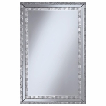 Accent Mirrors Wall Mirror with Jeweled Frame