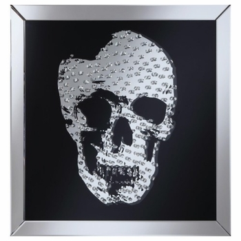 Accent Mirrors Wall Mirror with Jeweled Skull