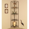 Accent Racks Copper Corner Shelf with Decorative Scrolls