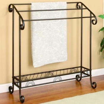 Accent Racks Dark Bronze Metal Towel Rack