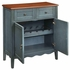 Accent Racks Wine Cabinet with 2 Drawers and Scalloped Apron