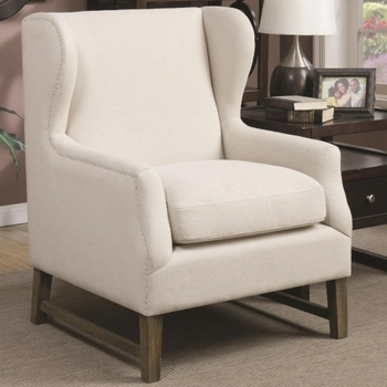 Accent Seating Accent Chair with Wing Back Design