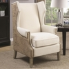Accent Seating Accent Chair with Wing Back Design and Map Print