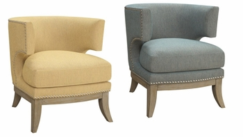 Barrel Back Accent Chair Weathered Grey 902558