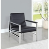 Accent Seating Contemporary Accent Chair with Black Leatherette