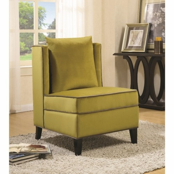Accent Seating Contemporary Accent Chair with Contrast Piping