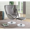 Accent Seating Contemporary Chair With Ottoman