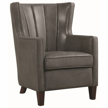 Accent Seating Dark Grey Wing Back Accent Chair