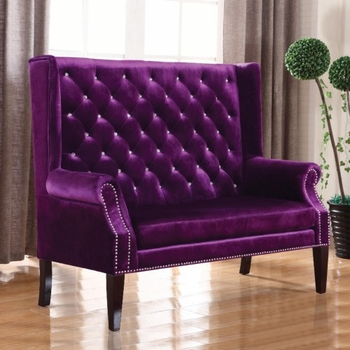 Accent Seating Extra Tall Winged Settee