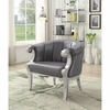 Accent Seating Glam Accent Chair with Scroll Armrests