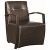Accent Seating Industrial Accent Chair with Metal Arms