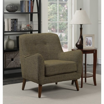 Accent Seating Mid-Century Modern Chair with Button Tufting