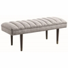 Accent Seating Mid-Century Modern Upholstered Bench