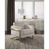 Accent Seating Modern Accent Chair with Floating Back
