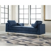 Accent Seating Modern Double Chaise with Navy Fabric