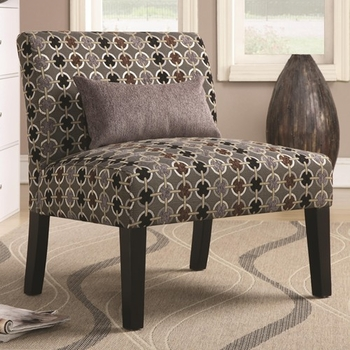 Floor Model Accent Seating Simple Accent Chair with Armless Style