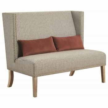 Accent Seating Striped Settee with Wings