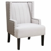 Accent Seating Two Toned Wing Accent Chair with Nailhead Trim