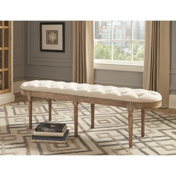 Accent Seating Upholstered Accent Bench with Nailhead Trim