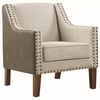 Accent Seating Upholstered Accent Chair with Nailhead Trim